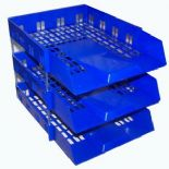 Blue Letter IN/OUT Filing Trays